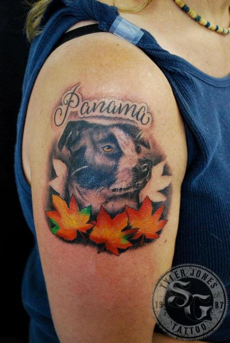 Mr Jones Dog Portrait Tattoo Design