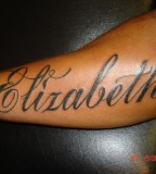 Elizabeth Tattoo Name On Arm