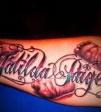 Name Tattoos on Amp for Men