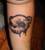 Cute Twei Panda Tattoo On Arm
