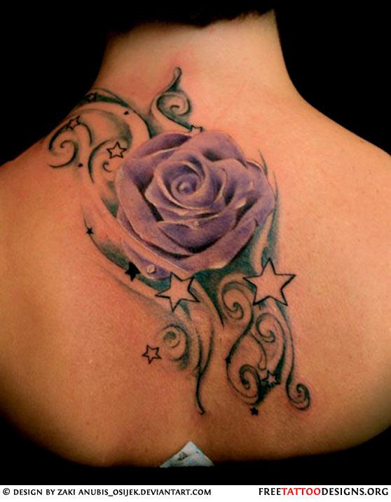 Rose Tattoos Design for Girl