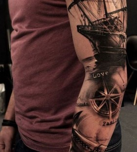 nautical sleeve tattoos for men