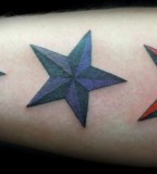 Dark Nautical Star Tattoos