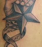 Nautical Star into the Hand Tattoo Design