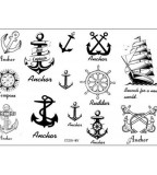 Popular Nautical Temporary Tattoo Waterproof