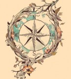 Briliant Nautical Compass Tattoo