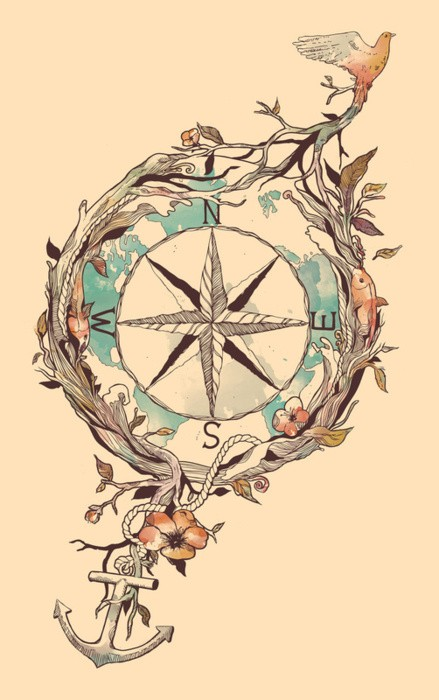 Briliant Nautical Compass Tattoo Tattoomagz Tattoo Designs