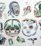Miscellaneous Ii Neotraditional Tattoo Flash Sheet By Derekbward
