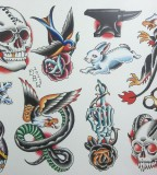 Miscellaneous Iv Neotraditional Tattoo Flash Sheet By Derekbward