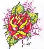 Neo Traditional Rose Tattoo 2 By Vikingtattoo On Deviantart