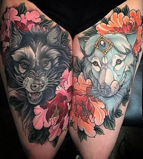neotraditional-wolf-tattoos