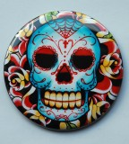 Pocket Mirror Old School Sugar Skull Tattoo Ideas