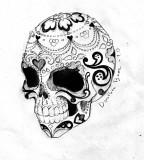 The Sugar Skull Tatttoo Sketch Design by Dorothea Barre