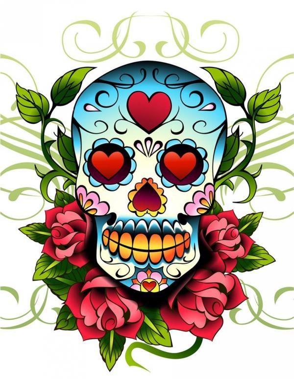Old School Mexican Love Skull Tattoo Sketch Design - | TattooMagz ...