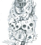 Skull Sleeve Old School Tattoo Sketch By Symbolofsoul