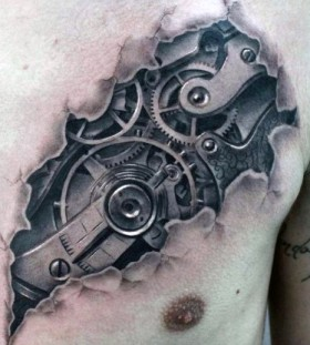optical illusion tattoos for men
