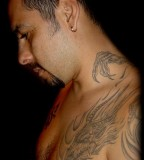 Mythical Tribal Dragon Tattoo Wraps Over-Shoulder and Neck Dragon - Tattoos for Men