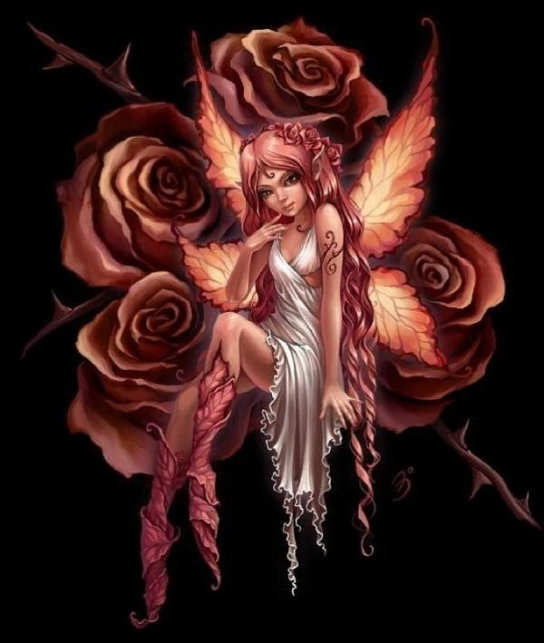 Amazing Gothic Fairy Tattoo and Rose Over-Shoulder Photos – Fairy Tattoos