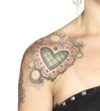 Awesome Stylish Heart Shoulder Tattoo Designs for Women