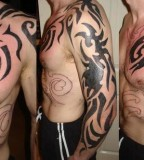 Tattoo Designs of Tribal Tattoo Over-Shoulder / Sleeve Tattoo Designs