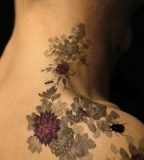 Beautiful Flower Tattoos for Women Over-the-shoulder Tattoo Designs