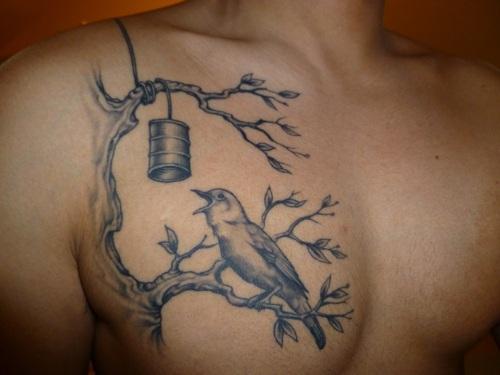 Bird Tattoos Design on Chest – Bird Tattoos for Men