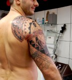 Over-the-Shoulder / Sleeve Polynesian Tattoo Designs for Men
