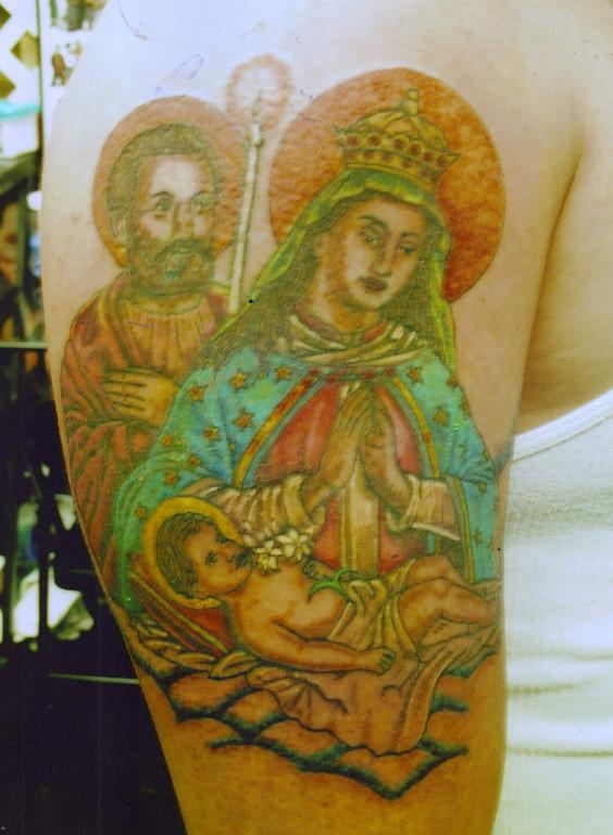 Genaros Virgen De La Alta Gracia Full Arm Tattoo