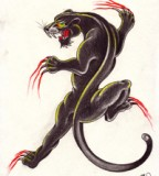 Crawling Panther Tattoo Tattoosymbol
