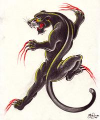 Crawling Panther Tattoo Tattoosymbol