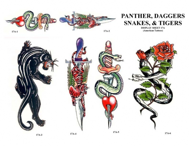 Panther Meaning IDeas For Dagger Snakes and Tiger Tattoos