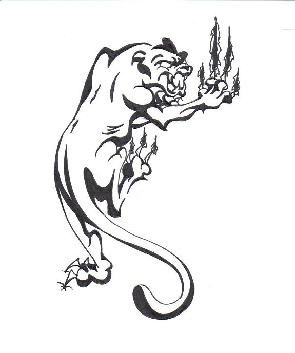 Panther Tattoo By Blackflame On Deviantart For Animal design Tattoo