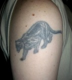 The Sing Of Power Panther Tattoo Meaning on Men Shoulder