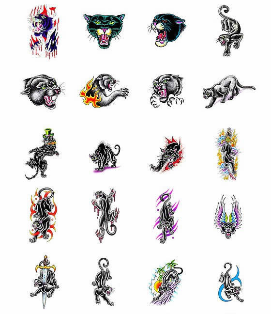 Vectorize Panther Tattoos  Designs