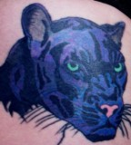 Animal Design Tatoo Panther Jaguar Wild Cat Face Tattoo