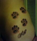 Missouri Dog Paws Tattoo For Girls