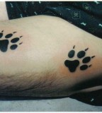 Simple Paw Prints Tattoo Foot Meaning