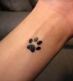 Paw Print Meaning Tattooed  Binary Blonde