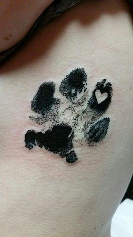 paw with a heart