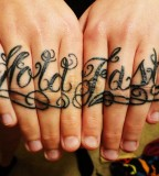 Hold Fast Tattoo By Knuckle Tattoos
