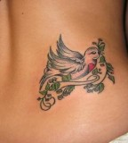 Cute Love Dove Tattoos 2013 For Girls