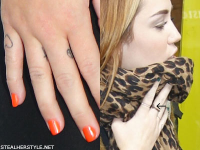 Miley Cyrus Tattoos Amp Meanings Pictures