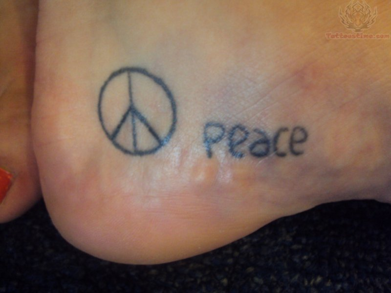 Simple Peace Tattoos Simple Peace Tattoos Pictures