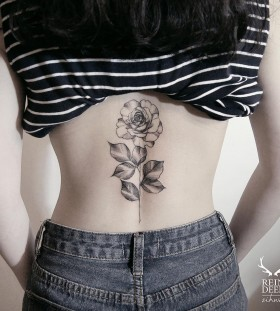 perfect-rose-flower-tattoo