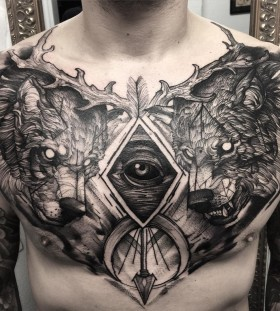 phenomenal-chest-tattoo-by-fredao-oliveira