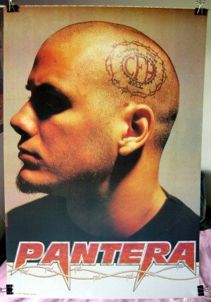 Phil Anselmo Cfh Tattoo Head Poster Pantera Htf
