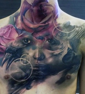 photo realistic portrait tattoos for men