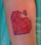 Broken Heart Cube Tattoos