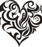 Funky Tribal Heart Tattoos