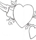 Simple Heart Tattoo Art Design
